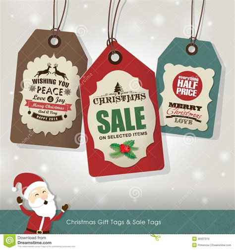 christmas sale tags cartoon vector cartoondealer com