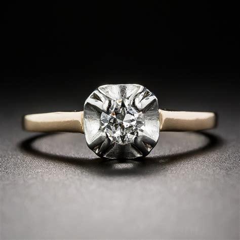 22 carat antique solitaire engagement ring