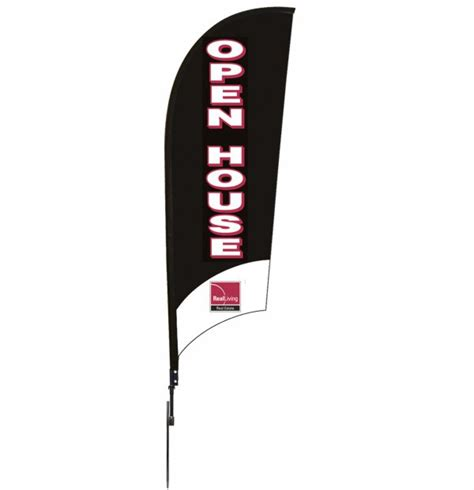real estate open house flags real living real estate open house feather flag unit 9 foot 30 282 300 lowen sign