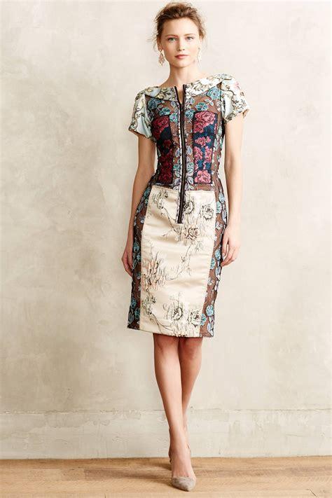 Atasan Wanita Marc lyst byron lars pieced brocade dress