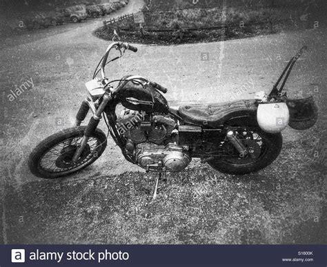 Harley Davidson Motorrad Alt by Black Harley Davidson Motorcycle Stockfotos Black Harley