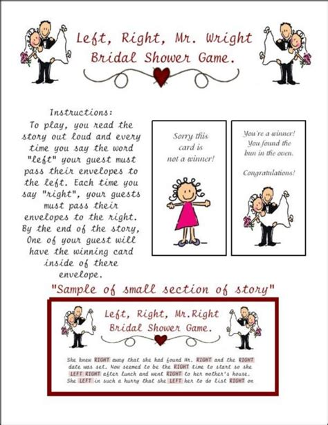 Right Left Bridal Shower by Bridal Shower Left Right Mr Wright Envelope Pass