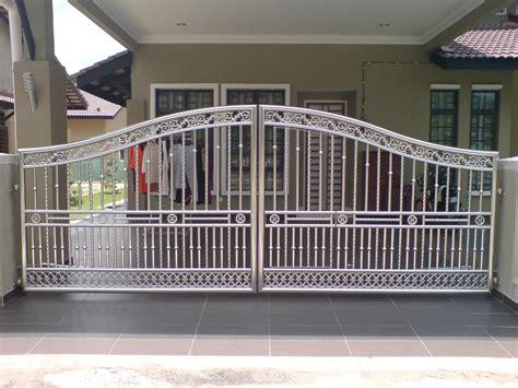 desain pagar rumah stainless steel terbaru