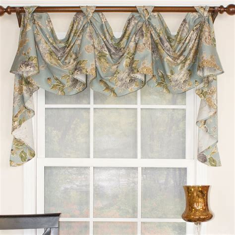 victory valance curtains rlf home floral essence 3 scoop victory swag curtain
