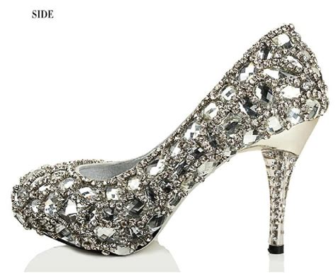 Sparkly Bridal Shoes by Sparkly High Heels Pointed Toe Rhinestone Wedding