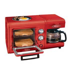 Toaster Oven And Microwave In One Nostalgia Electrics Bset100cr 3 In 1 Breakfast Station