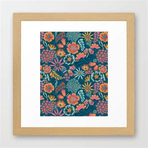 pattern art prints floral pattern framed art print