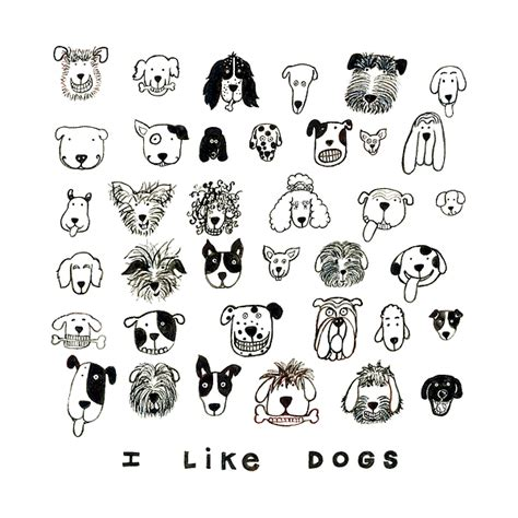 i like dogs i like dogs painting by barbara esposito