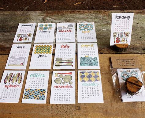Handmade Calendar Designs - 30 cool creative calendars for 2013 brit co