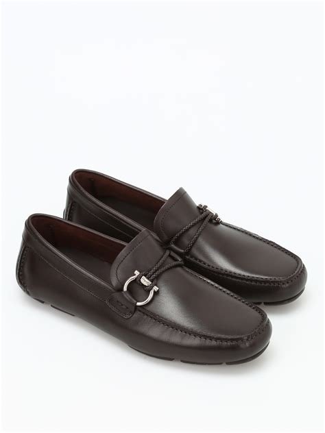 Ferragamo Salvatore front leather car shoes by salvatore ferragamo loafers