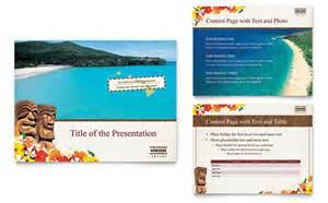 Hawaii Brochure Template by Hawaii Travel Vacation Brochure Template Design