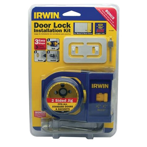 irwin tools door lock installation kit irwin 3 easy steps door lock installation kit 3111002