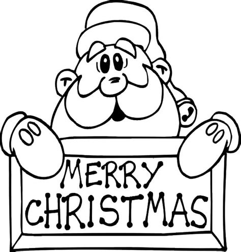 Santa Claus Coloring Pages Merry Christmas Coloringstar Merry Coloring Pages That Say Merry