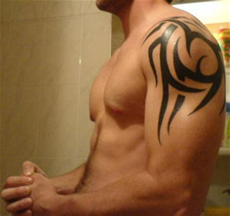 tribal tattoos on shoulder and arm tribal tattoos for