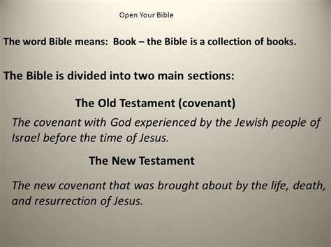 the constitution is divided into seven major sections called introduction to the holy bible ppt download