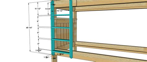 bunk bed ladder plans kenwood bunk ladder the design confidential