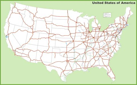 usa map interstate usa interstates map