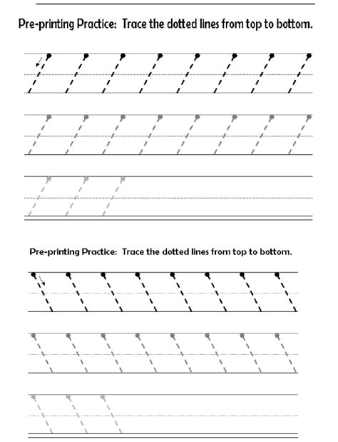 Pattern Writing Slanting Lines | before printing letters lines circles zig zags