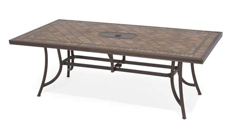 Tile Top Patio Dining Table Carlsbad Sling Aluminum Patio Furniture Patio Furniture Fortunoff Backyard Store