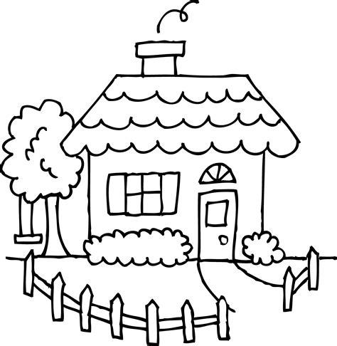 cute cozy house coloring page  clip art