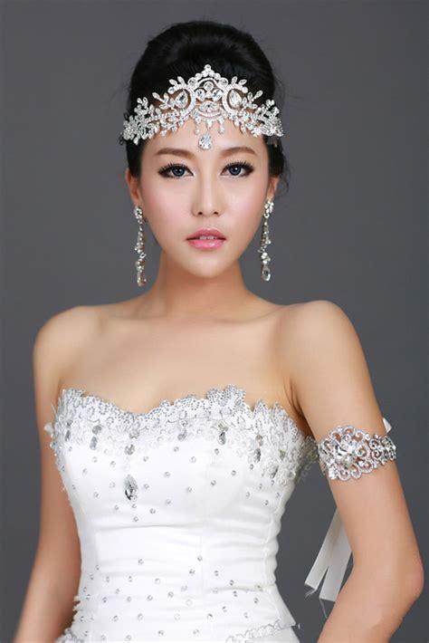 Kk377 Tiara Set Dress wedding bridal rhinestone silver headband hair accessories crown tiara ebay