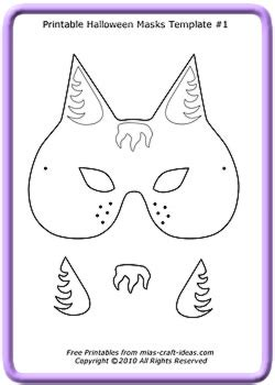 cards mask templates free printable masks