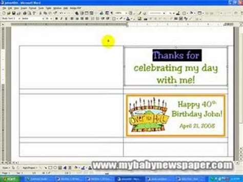 creating candy bar wrappers using ms word youtube