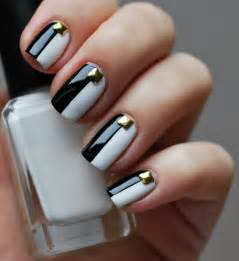two color nails black and white nails for beginners pretty designs