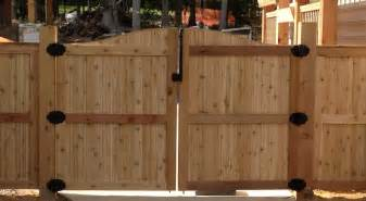stunning wooden fence gate design with double gate home interior exterior