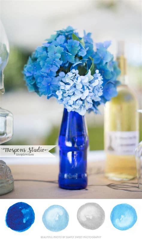 beautiful blue color brilliant blue wedding color palette mospens studio