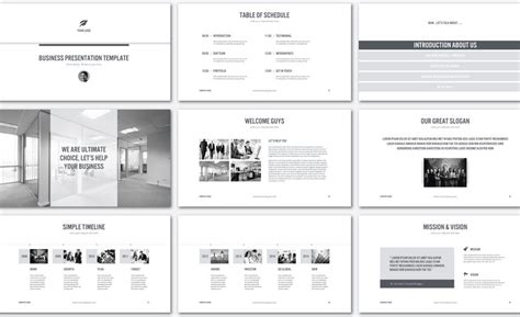Powerpoint Modern Vorlagen Modern Black And White Presentation Template The 5 Best Powerpoint Templates Of 2016 Free