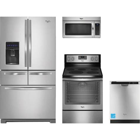 whirlpool kitchen appliance package whirlpool wrv986fdem stainless steel complete kitchen