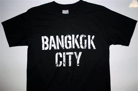 T Shirt Bangkok Ori M Size cool t shirts bangkok city logo shirt
