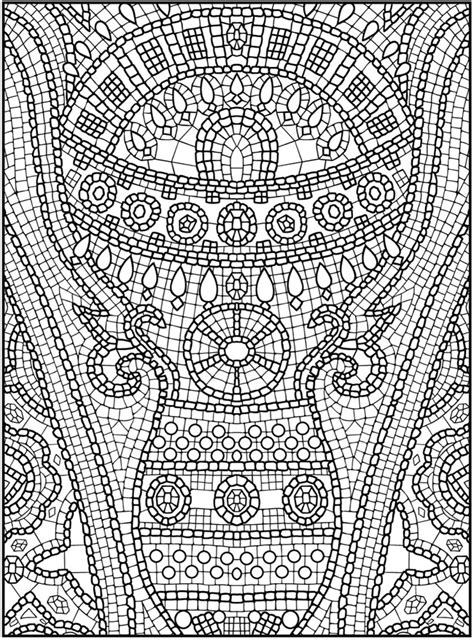 mosaic coloring pages by number free coloring pages of mosaic color by number