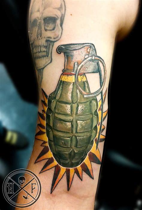 hughfowler realistic grenade tattoosbyhugh grenade grenade