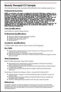Duties Of A Cosmetologist by Therapist Cv Sle Myperfectcv