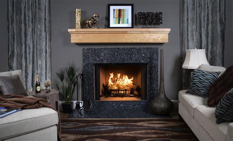 Blue Mantle Fireplaces by Fireplace Surround Facing Chart