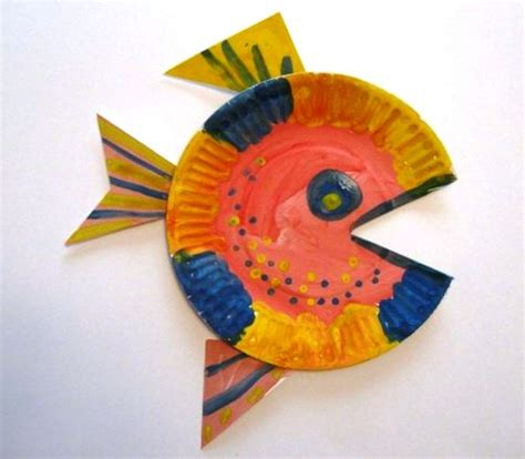 How To Make Fish Out Of Paper Plates - drawing crafts phpearth