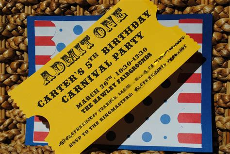 carnival themed invitations pics for gt carnival themed ticket invitations