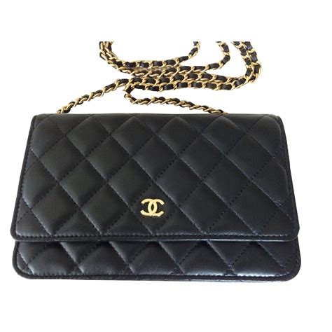 Harga Chanel Boy Wallet On Chain chanel wallet on chain handbags leather black ref 43455