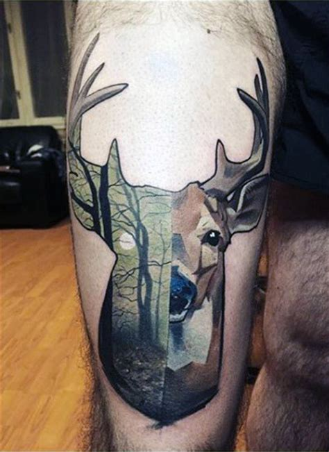 deer track tattoo 90 deer tattoos for manly outdoor designs