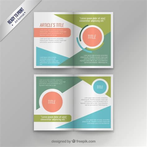 ideas mag free version colorful modern magazine template vector free download