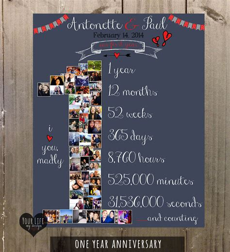 anniversary gift anniversary photo collage anniversary gift idealpin