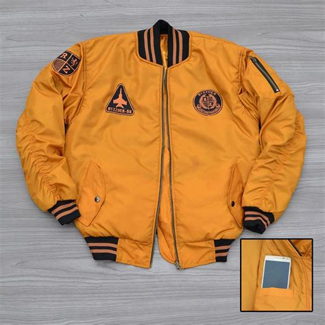 Jaket Bomber Jacket Bomber Kuning Jaket Bomber Ryzzher Plane Yellow