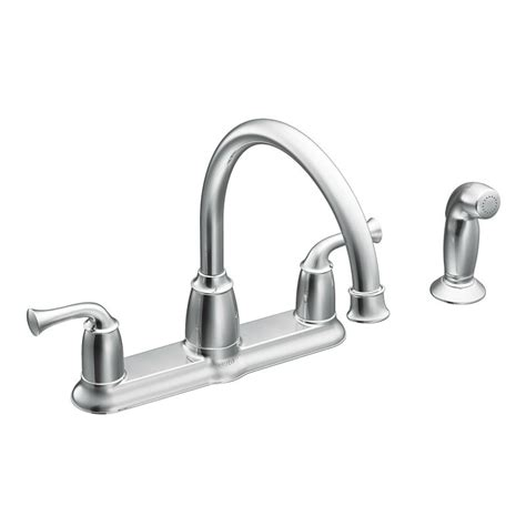 moen banbury kitchen faucet moen ca87553 chrome high arc kitchen faucet with side