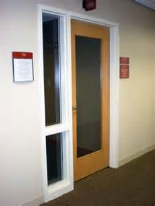 Commercial Interior Glass Door Wood Door W Sidelite Frame