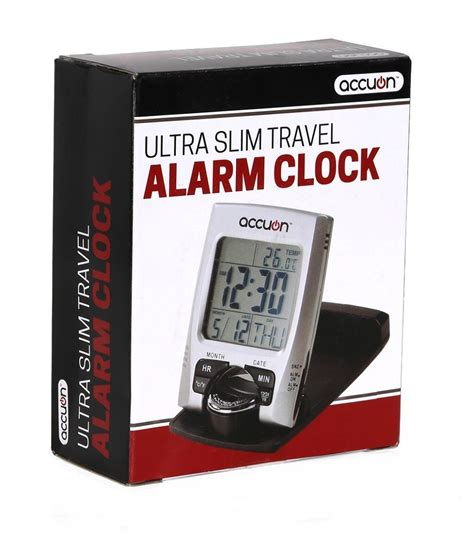 lowest price on travel alarm clock with calendar and temperature