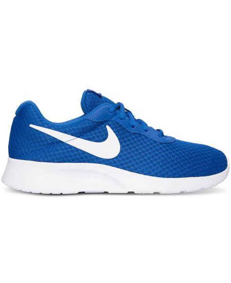 Nike Tanjun Royal White Original nike s tanjun casual sneakers from finish line in blue