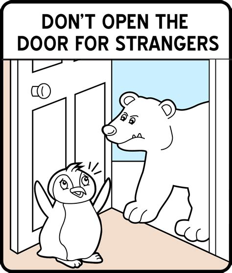 When A Opens A Door For You Do You Slam It In His by 10 Safety Sign Coloring Pages For Smartsign