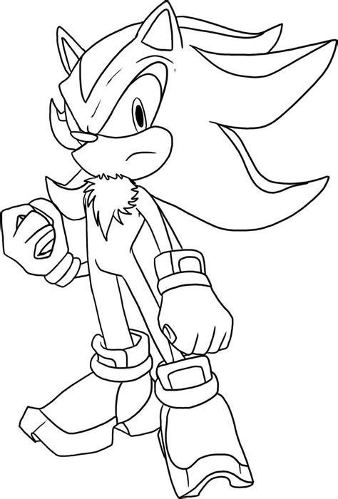 Shadow The Hedgehog Coloring Pages To Print free coloring pages of all shadow